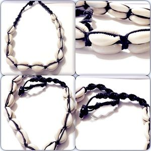 New Double layered cowrie shell necklace